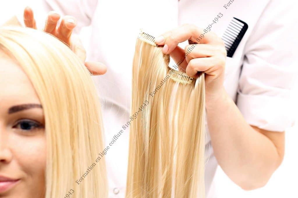 Formation en ligne pour extensions de cheveux